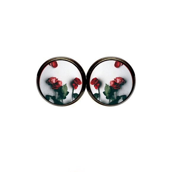 Country Mermaids Jewelry - Red Roses Earrings